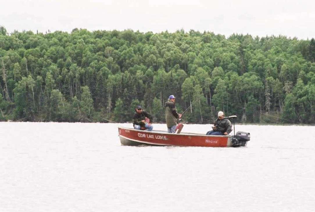 Cedar lake fishing lodge ontario canada private for Ontario fishing lodges