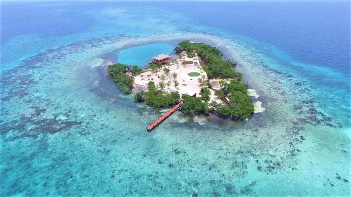 Image result for Little Peter Oasis, 8 miles off the coast of Belize