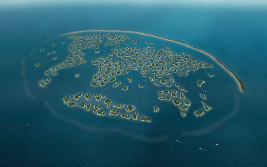 The world islands dubai united arab emirates asia private map type gumiabroncs Image collections